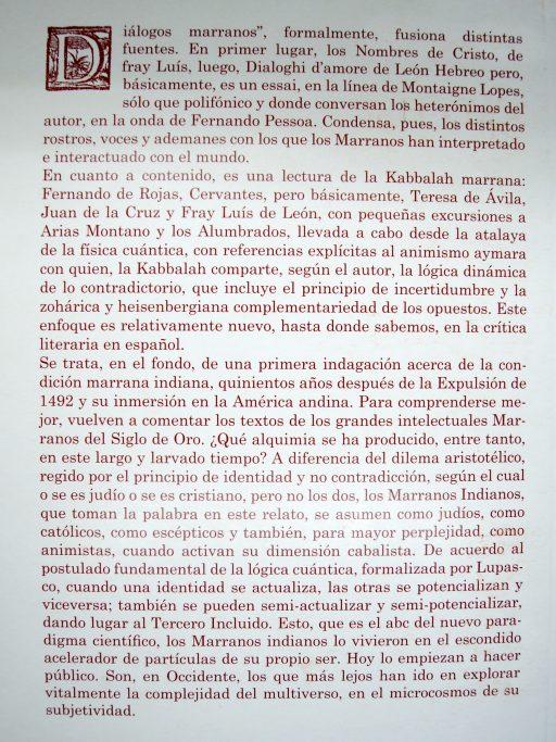 Javier Medina , Diálogos Marranos